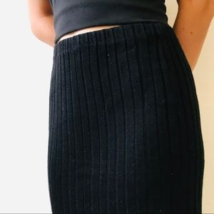 Vintage '80s Ribbed Knit Pencil Skirt
